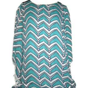 Umgee Crochet Fringe Open Sleeve Tunic/Dress (S)
